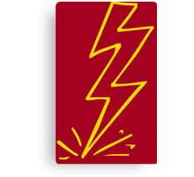 Flash Lightning Bolt Canvas Print