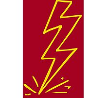 Flash Lightning Bolt Photographic Print