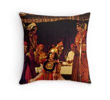 Yakshagana Dancers Throw Pillow