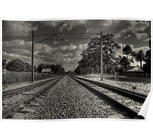 Guildford Railroad Tracks Poster