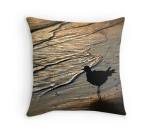 Alone...Watching The Sun Go Down Throw Pillow