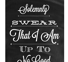 I solemnly swear that I am up to no good by Phyllo