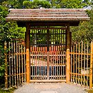 Traditional Temple Garden Gate, Kyoto, Japan. by johnrf