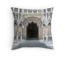 Entrance to Mary Redcliffe Church. Throw Pillow