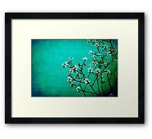 moody florets Framed Print
