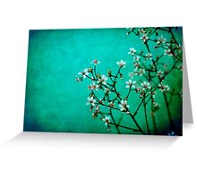 moody florets Greeting Card