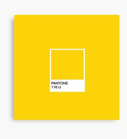 PANTONE Yellow Canvas Print