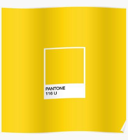 PANTONE Yellow Poster