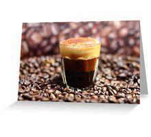 Long Espresso Cappuccino Greeting Card