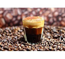 Long Espresso Cappuccino Photographic Print