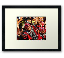 Hand Play Framed Print