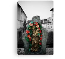 Mary On The Bridge Canvas Print