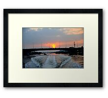 Sunrise over the Saigon River, Ho Chi Minh City, Vietnam Framed Print