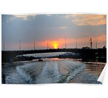 Sunrise over the Saigon River, Ho Chi Minh City, Vietnam Poster
