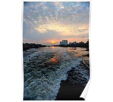 Sunrise over the Saigon River Poster