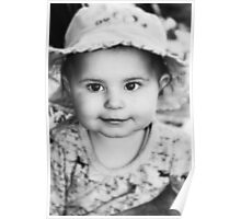 Baby-Girl in Black and White Poster