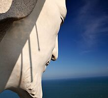 "Face of ""Christ of Vung Tau"", Vietnam. by Sheldon Levis"