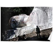 Tuong Phat Nam (white reclining Buddha), Vietnam Poster