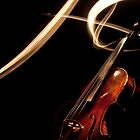 Light Painting Violin by sixdesign