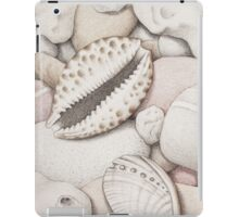 Pebbles, Cowrie & Abalone Shells iPad Case/Skin