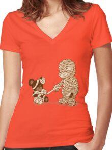MUMMY'S BOY v2.0 Women's Fitted V-Neck T-Shirt