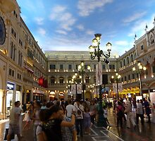 Venetian Casino's artificial sky by machka