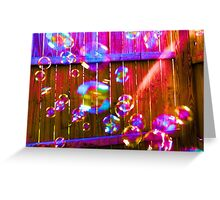 Excitement is in the Air - Colorful Bubbles Greeting Card
