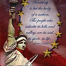 Patriotic Liberty Card by William Martin