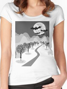 Happy Haunting Women's Fitted Scoop T-Shirt