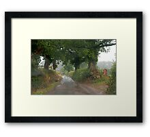 Rainy day through a Windscreen 1, Lashbrook Framed Print