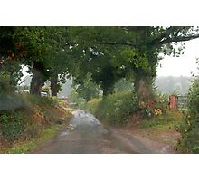 Rainy day through a Windscreen 1, Lashbrook Photographic Print