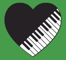 Piano Heart Baby Tee