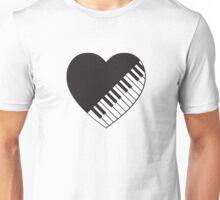 Piano Heart Unisex T-Shirt