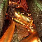Reclining Gold Buddha by Drew Walker