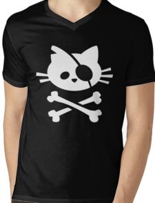 Pirate Cat Mens V-Neck T-Shirt