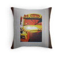 NYC Bus Throw Pillow