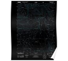 USGS Topo Map Oregon Dry Prairie 20110719 TM Inverted Poster
