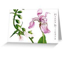 Iris and Foxglove Birthday Card Greeting Card