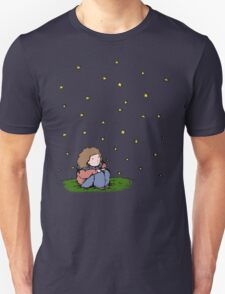 Girl looking at the stars Unisex T-Shirt