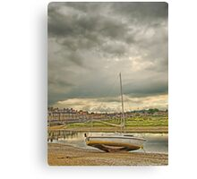 Storm clouds over Blakeney Canvas Print