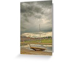 Storm clouds over Blakeney Greeting Card