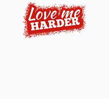 Love Me Harder Red Women's Fitted Scoop T-Shirt