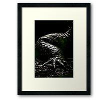 The Dark Side:  Alligator Armor Framed Print