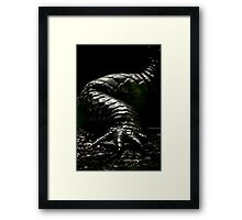 The Dark Side:  Alligator Armor Framed Print