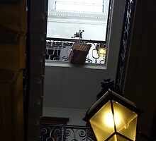 staircase with lamps by lukasdf