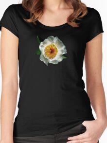 White Poppy in Sunshine Women's Fitted Scoop T-Shirt