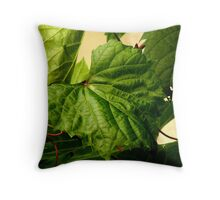 Vine Leaves Throw Pillow