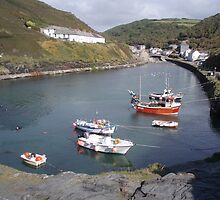 HighTide At Boscastle Harbour by Neill Parker