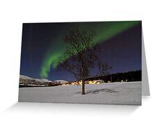 Winter tree-V Greeting Card