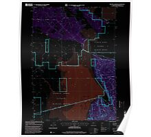 USGS Topo Map Oregon Military Crossing 280737 1998 24000 Inverted Poster